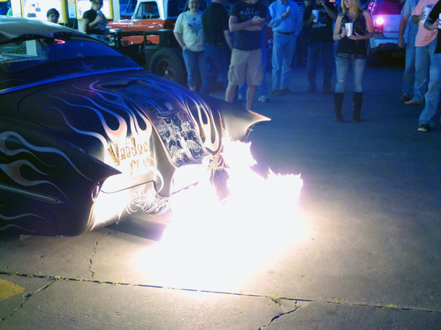 Car Back Fire 2014 Car Show