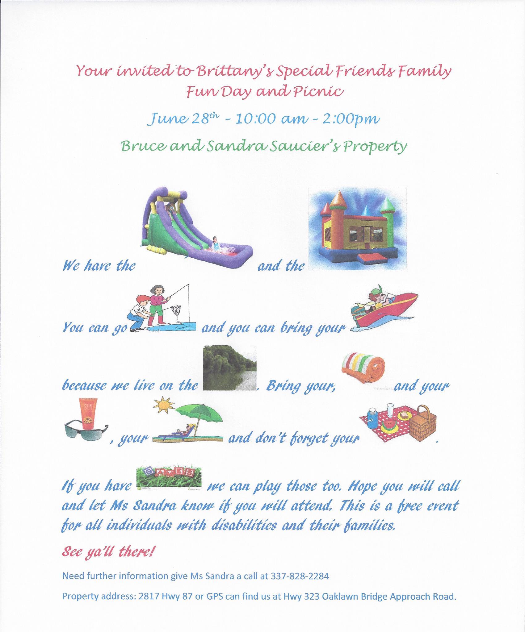 family picnic invitation