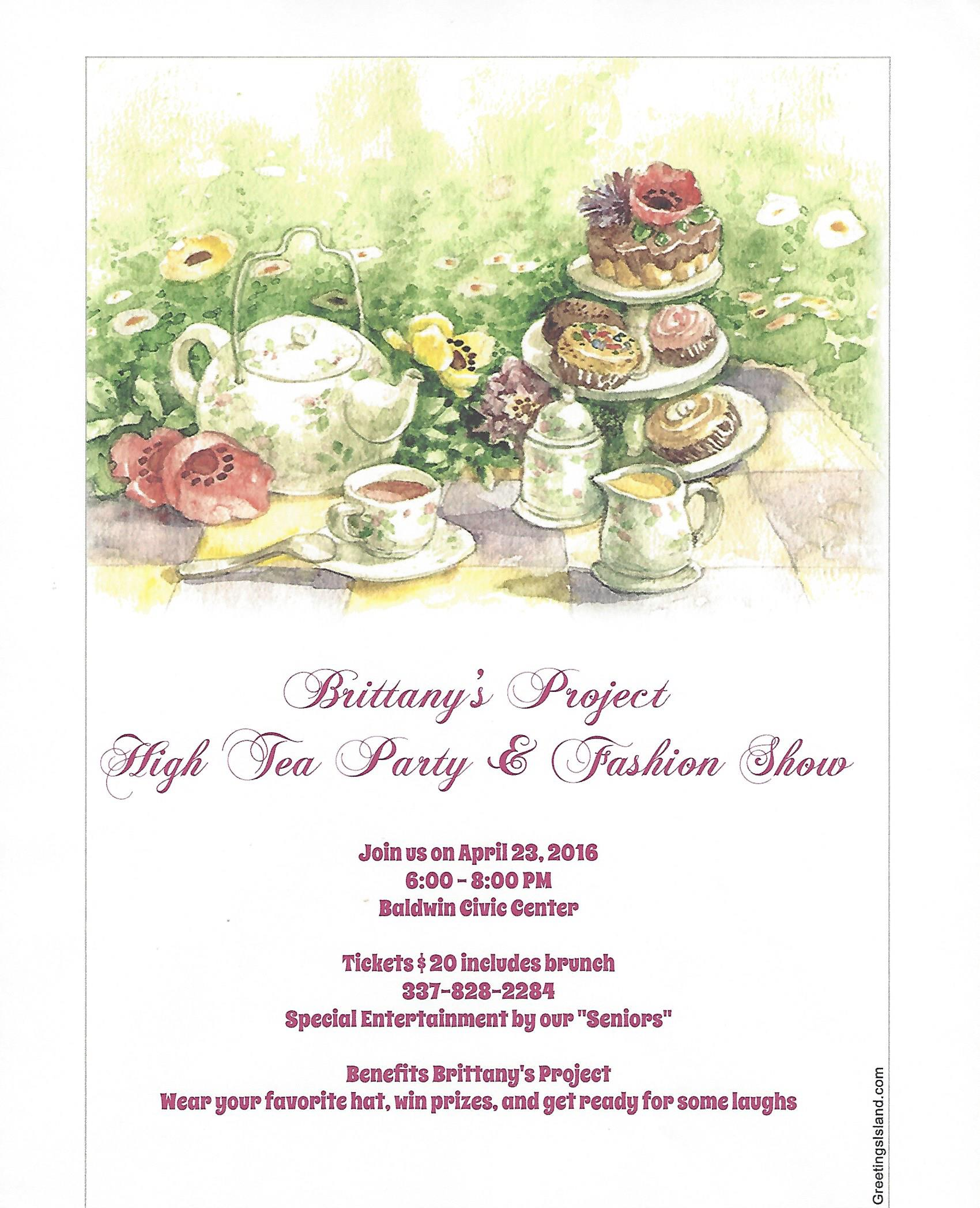 Events - High Tea Party & Fashion Show - Brittany Project - A ...