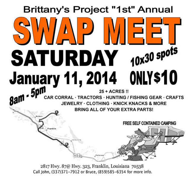 Brittany Project First Annual Swap Meet Event, 2014